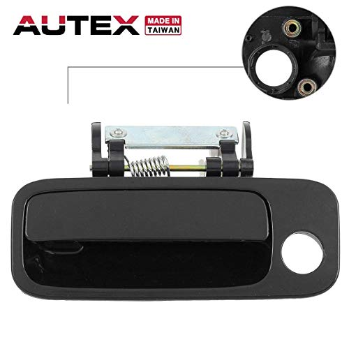 (AUTEX Door Handle Black Exterior Outer Front Left (Driver Side) Compatible with Toyota Avalon 2000 2001 2002 2003 2004 80846, 69220AC030C0 TO1310131)