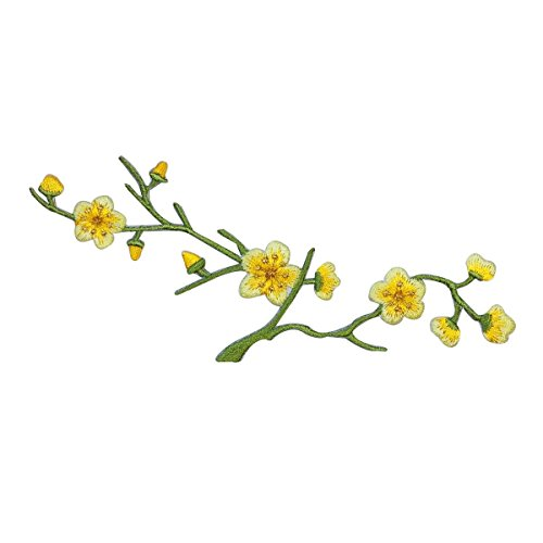 id-6107-yellow-flowering-tree-branch-patch-pretty-nature-craft-iron-on-applique