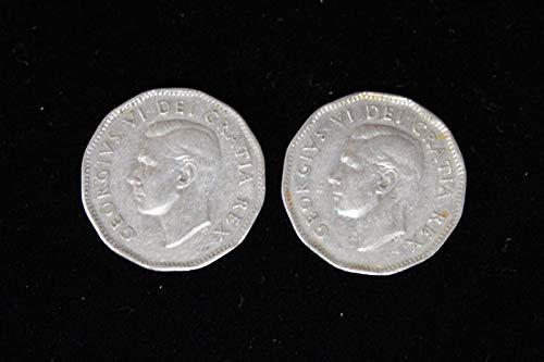 Genuine x2 1951 Canadian Nickels ()