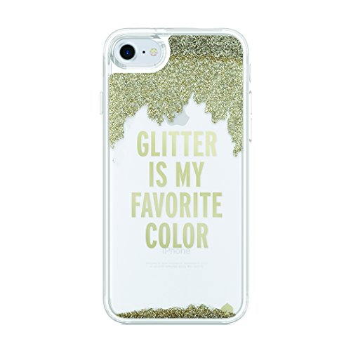 kate spade new york Liquid Glitter Case for iPhone 8 - also compatible with iPhone 7 - Glitter is My Favorite Color Gold / Clear