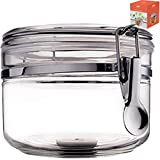 oxy containers - Food Canister Storage Container Organizer - 1 air tight size 28 oz acrylic plastic jar with lid to fulfill your pantry kitchen cabinet organization! Canisters & containers for candy sugar flour cereal