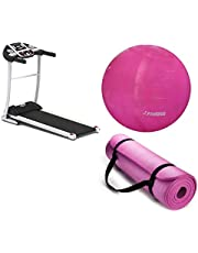 The WorldWide Treadmill With Yoga ball World Fitness Pink 75 cm With The world's most advanced yoga mattress, floral