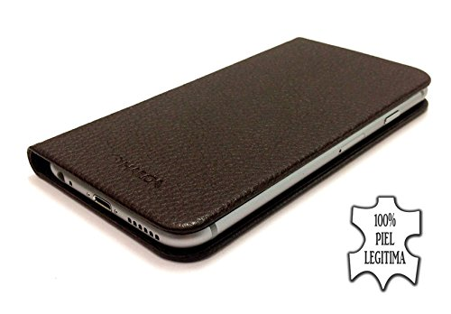 Hailoa - Funda de piel fabricada a mano iphone 6 color marrón