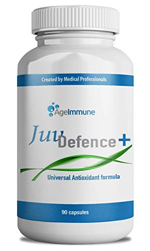 JuvDefense Multivitamins Plus Antioxidant Supplements Complex - Doctor Formulated Anti-Aging Vitamins with Resveratrol, Grape Seed, Green Tea and Glutathione for Men and Women, 90 Capsules