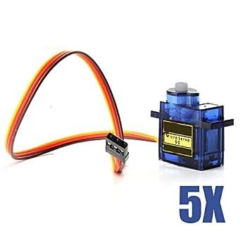 Hrph 1/ 5/10 piezas Mini SG90 servo micro motor para RC Avión Helicóptero