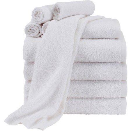 Mainstays Value 10-Piece Towel Set   100% Light Terry Cotton
