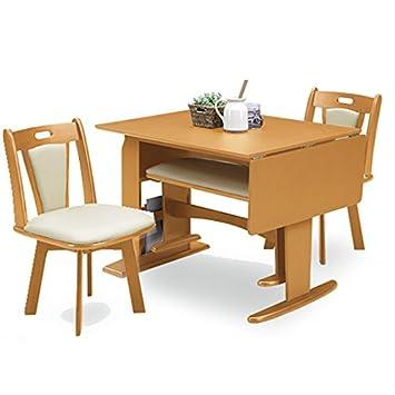 Amazoncojp 省スペース伸長式テーブルテーブル ダイニングセット4