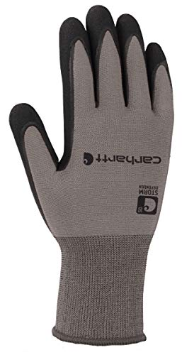 Carhartt Men's Thermal WB Waterproof Breathable Nitrile Grip Glove, Grey, M