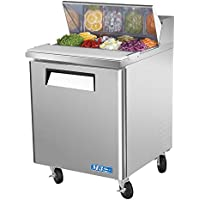 Turbo Air MST-28 Refrigerated Prep Table, 8 Pan, One Door, 7 cu ft