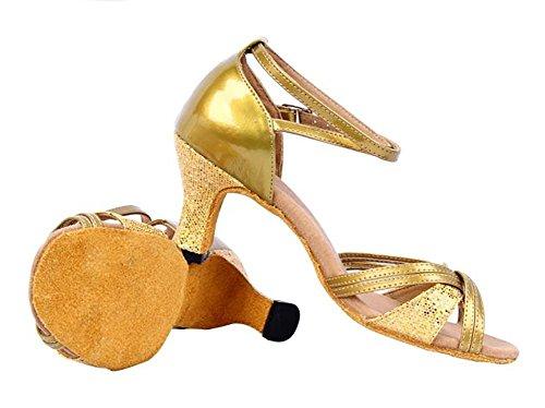 Baile Fondo 9 WYMNAME Zapatos pie Latino Baile de Interior 3CM Zapatos 6Inch Blando Dorado Sandalias Mujeres Ligero Modernos de 24 de Longitud del 4r4q6X