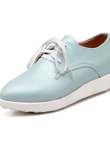 NJX/ Damenschuhe Kunstleder Plateau Komfort/Spitzschuh Oxfords Kleid/Lässig Blau/Rosa/Weiß/Silber pink-us7.5 / eu38 / uk5.5 / cn38