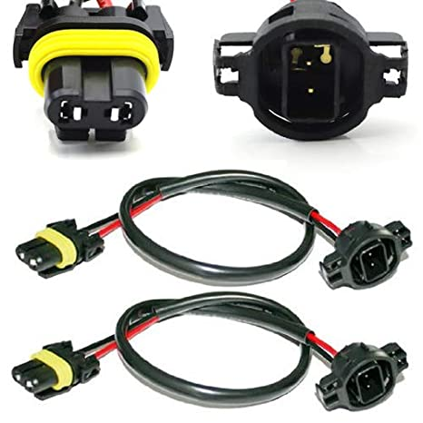 iJDMTOY (2) 5202 H16 Wire Harness for Installing HID Ballast ... on hid lights, h11 relay harness, hid headlights, hid wiring to a 02 impala, hid connectors, hid kit wiring, hid relay, 2001 mustang fog light wire harness, h4 conversion harness, hid controller, 2001 chevy silverado headlight wire harness,