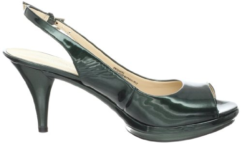 Nine West Women's Sharina Platform Dress Sandal Dark Green Patent clearance very cheap free shipping shopping online shopping online high quality free shipping visa payment extremely cheap price IYP5uCymUG