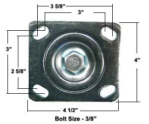 Caster Barn - JOBOX 6'' CASTERS - SET OF 4 - 1-321990 by Caster Barn