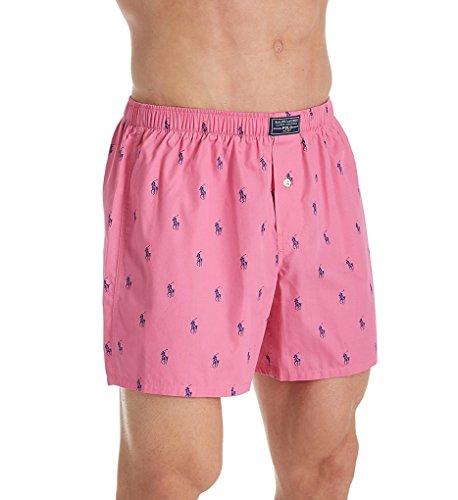 Polo Ralph Lauren Polo Player Woven Boxer, L, Bermuda Pink -