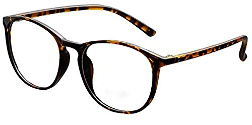 DEDING Retro Round Clear Lens Eyeglasses (brown tortoise , clear - Glasses Non Fashion Prescription