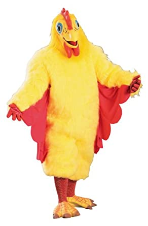Amazon Com Rubie S Costume Deluxe Adult Chicken Costume Yellow One Size Clothing