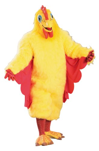 Rubie's Deluxe Adult Chicken Costume, Yellow, One Size
