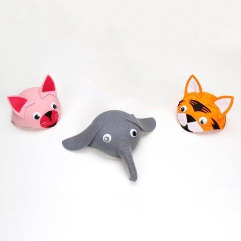 Bulk Buy: Darice Crafts for Kids Dress Up Felt Animal Hat Assorted (24-Pack) 106-185D
