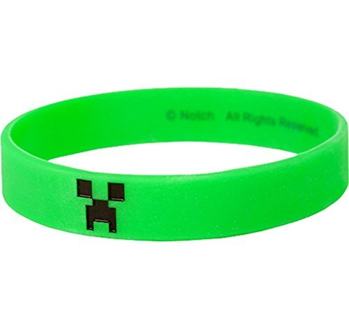 Minecraft Creeper Bracelet, Medium, Green