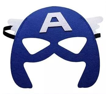 12 Pieces Superheroes Party Fun Cosplay Felt Masks For Boys GirlsCaptAmerica