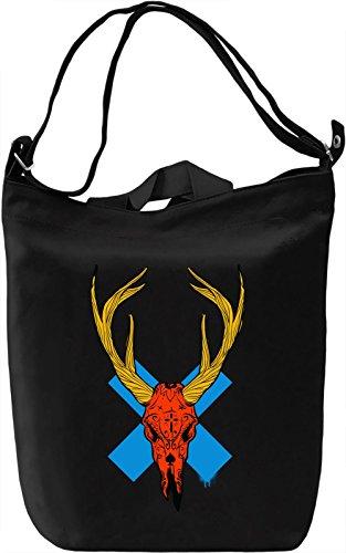 Orange Skull Borsa Giornaliera Canvas Canvas Day Bag| 100% Premium Cotton Canvas| DTG Printing|
