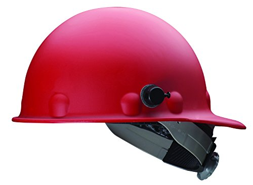 Fibre-Metal by Honeywell P2HNQSW15A000 Super Eight Swing Strap Fiber Glass High Heat Cap Style Hard Hat with Quick-Lok, Red