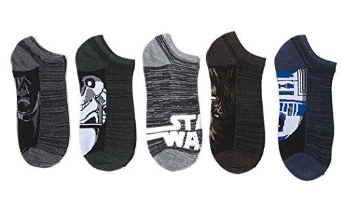 Star Wars Men's 5 Pk Space Dye no show socks