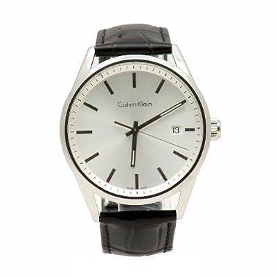 Calvin Klein Men's K4M211C6 Black Analog Leather Watch