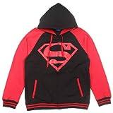 dc red hood hoodie - DC Comics Superboy Red Hood Raglan Hoodie Small