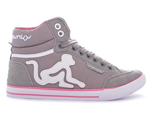 Drunknmunky Boston Classic 077 - Zapatillas deportivas, color gris y rojo