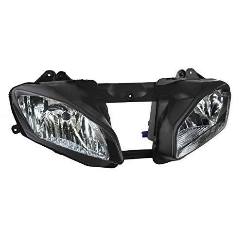(TCMT Black Front Headlight Head Light Lamp Fits For Yamaha YZF-R6 YZF R6)