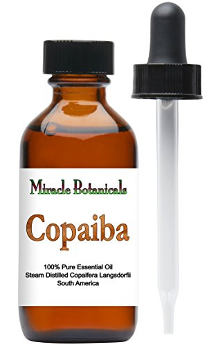 Miracle Botanicals Copaiba Essential Oil - 100% Pure Copaifera Langsdorfii - Therapeutic Grade - 60ml/2oz by Miracle Botanicals