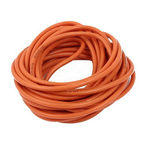 5 Meter 14AWG Orange Gauge Flexible Stranded Copper Cable Silicone Wire for RC by Ucland
