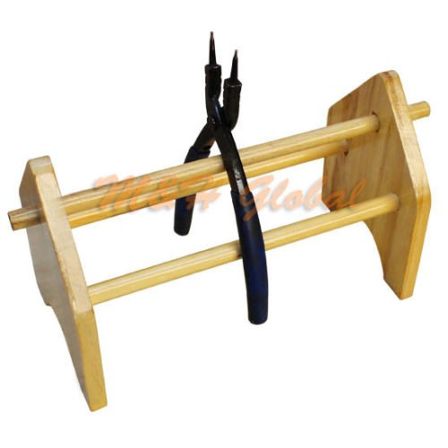 Wooden Pliers Rack Stand Jewelers Tool Holder Holds 10 Pl...