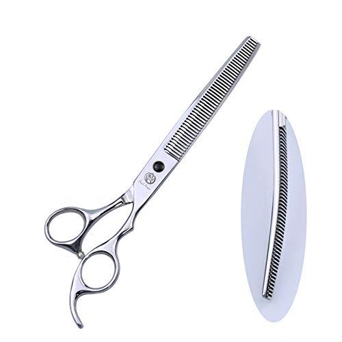 6.5 ,7.0 ,7.5 ,8  Profissional Japan 440c Upward and Downward Curved Scissors,Thinning Scissors,Chunker Scissors for Pet Grooming (7.5 thinning scissor)