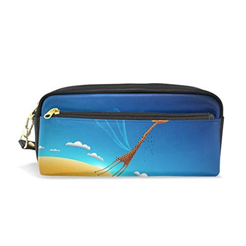 Giraffe Hobo (Pencil Case Learning Fly Clouds Sky Giraffe School Pen Pouch Office Zippered Makeup Bag Holder)