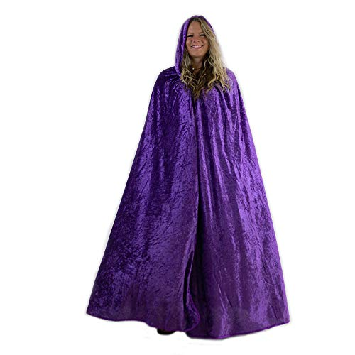 Everfan Purple Hooded Cape | Cloak with Hood for Halloween, Cosplay, Costume, Dress Up -