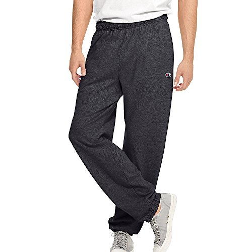 Champion Authentic Men's Closed Bottom Jersey Pants_Granite Heather_X-Large