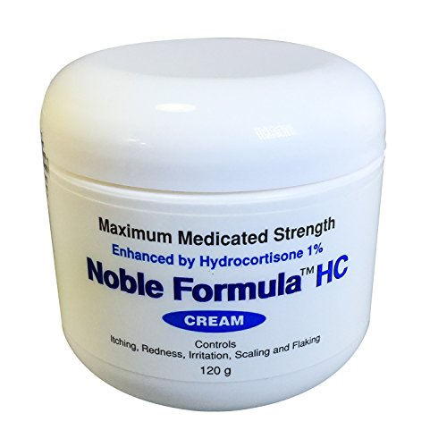 Noble Formula 1% Hydrocortisone Cream with .25% Pyrithione Zinc (Znp), 4 oz