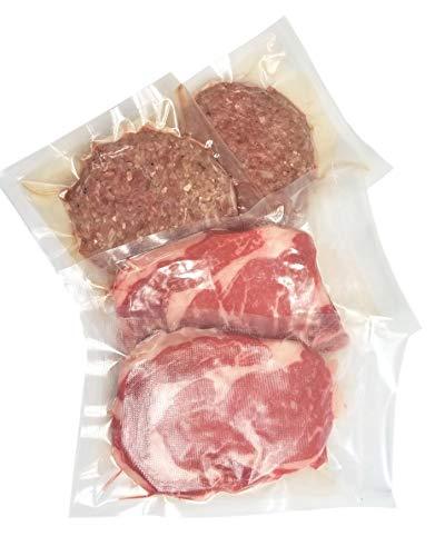 "100 6""x10"" Textured Vacuum Sealer Bags – Pint Size FDA Approved, BPA-Free Commercial Grade Food Sealer Bags for Sous Vide, FoodSaver, Food Storage"