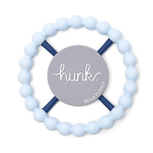 Bella Tunno Hunk Teether, Light Blue