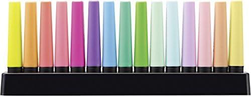 Textmarker - STABILO BOSS ORIGINAL - 15er Tischset - 9 Leuchtfarben, 6 Pastellfarben