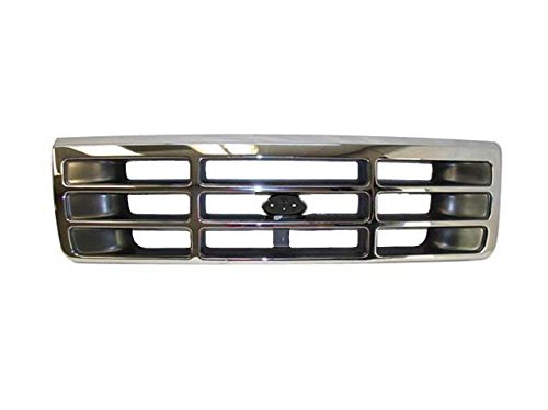 92-96 95 94 93 FORD F150 F250 F350 TRUCK CHROME GRILLE ()