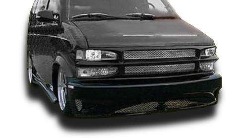 Chevy Astro 1995-2004 (GMC Safari Van 1995-2004) Hollywood Style 4 Piece Polyurethane Full Body Kit made by KBD Body Kits. Extremely Durable, Easy Installation, Guaranteed Fitment and Made in the USA! (Urethane Kit Full Body)