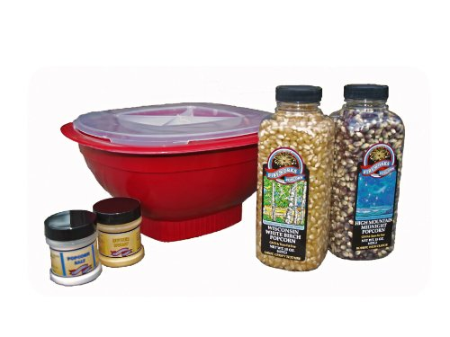 Fireworks Popcorn Microwave Popping Bowl and Gift Set,  Gift Box by Fireworks Popcorn