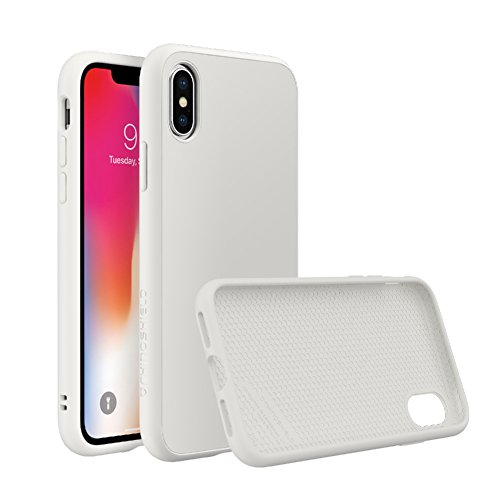 RhinoShield Case for iPhone X [SolidSuit] by Shock Absorbent Slim Design Protective Cover with Premium Matte Finish [3.5M / 11ft Drop Protection] - Classic White