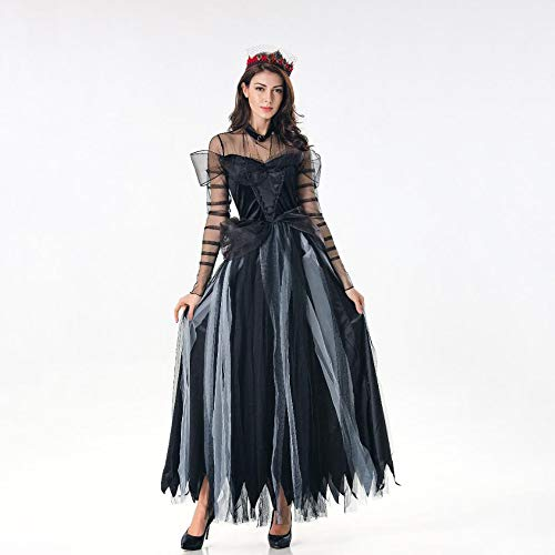 Yunfeng Witch Costume Halloween Costume Black Vampire Witch Horror Bride Costume Prom Play -