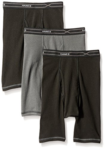 Hanes Men's 3-Pack X-Temp Comfort Cool Long Leg Boxer Brief, Assorted, XX-Large