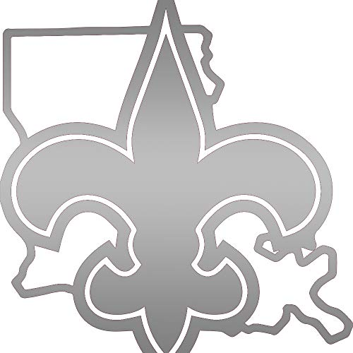 New Orleans Saints Greats (Metallic Silver) (Set of 2) Premium Waterproof Vinyl Decal Stickers for Laptop Phone Accessory Helmet Car Window Bumper Mug Tuber Cup Door Wall Decoration Dc Metallic Silver Logo Sticker